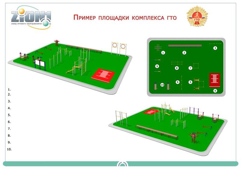 Вариант площадки ГТО